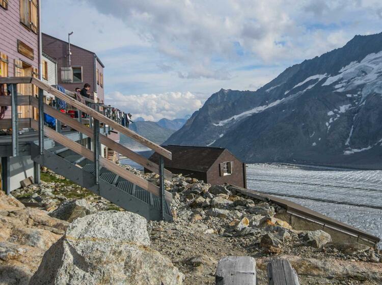 Uebernachtung Auf Der Konkordiahuette Im Berner Oberland Am Gletschertrekking