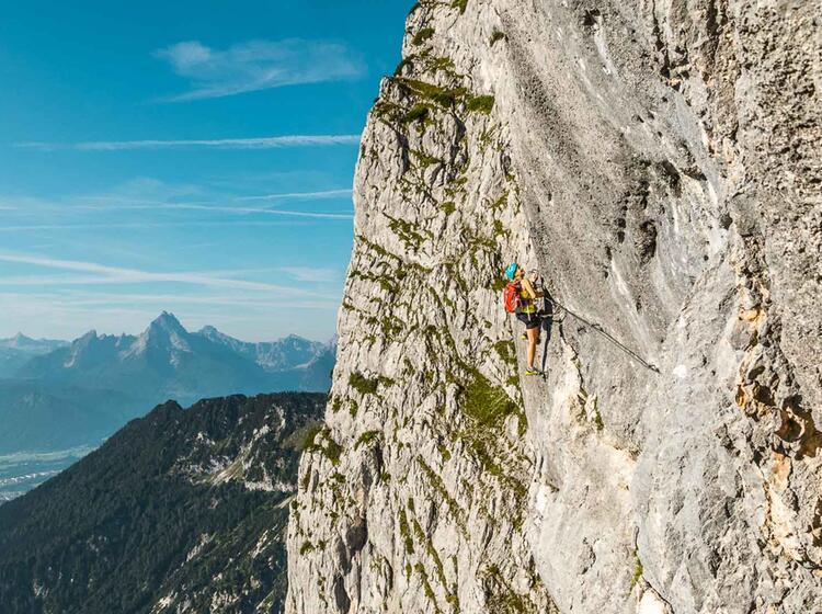 Untersberg Foto Quergang Mit Blick Auf Den Watzmann