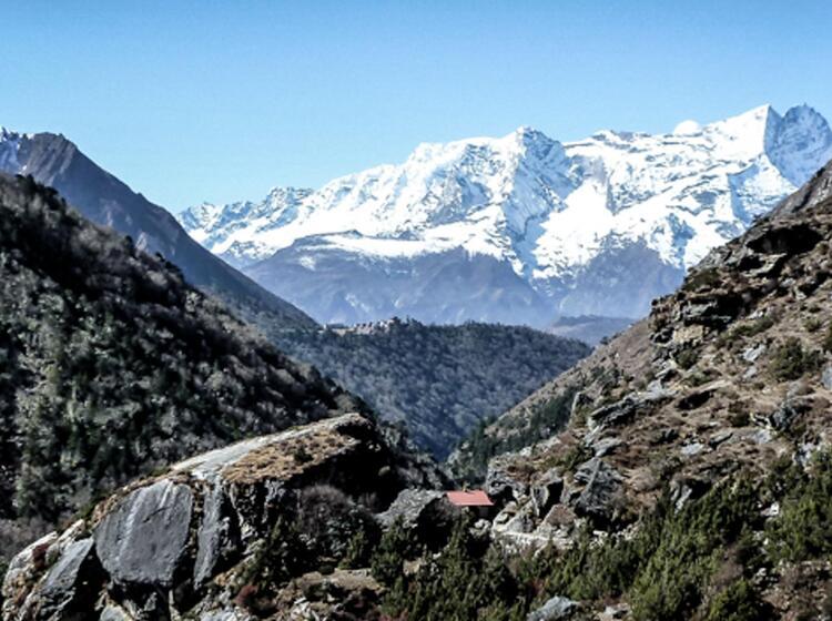 Unterwegs Auf Dem Everest Trek