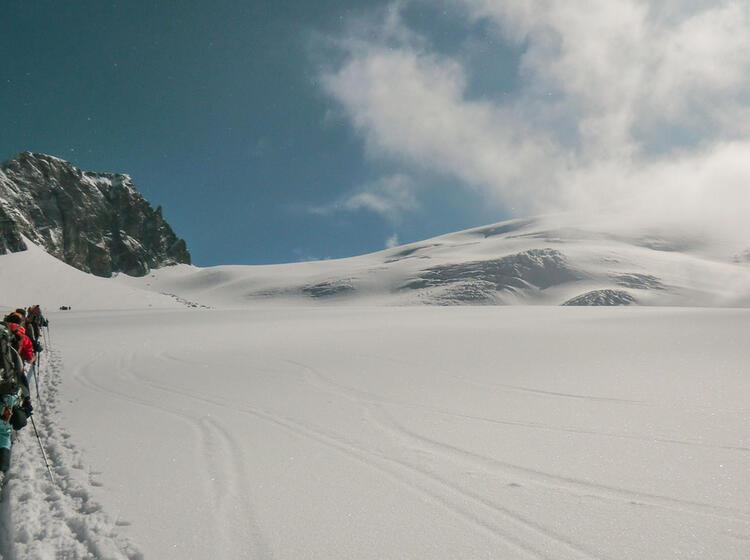 Unterwegs Auf Dem Gletscher