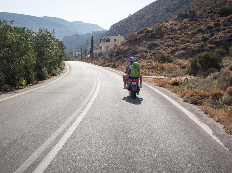 Unterwegs Mit Dem Roller Auf Kalymnos