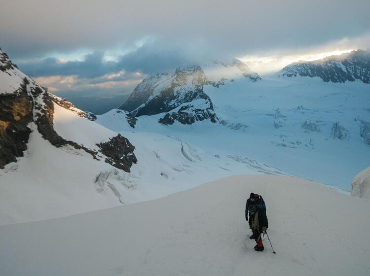 Viertausender Im Berner Oberland Eiger Moench Und Jungfrau