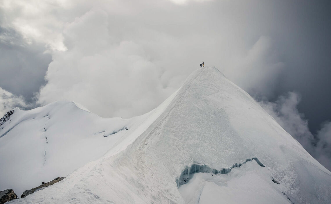 Viertausender Sammeln Auf Der Hochtourenwoche Im Wallis