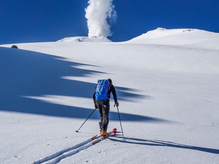 Vulkan Besteigung In Chile Mit Tourenski