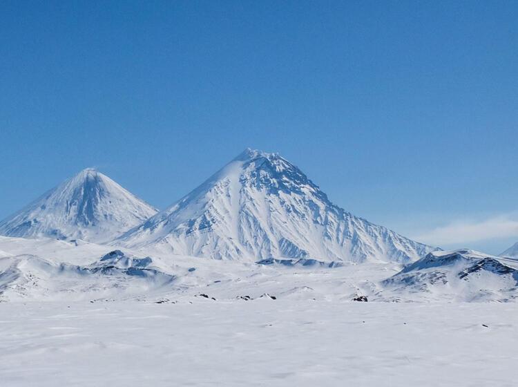 Vulkane Zum Skitouren In Kamtchatka