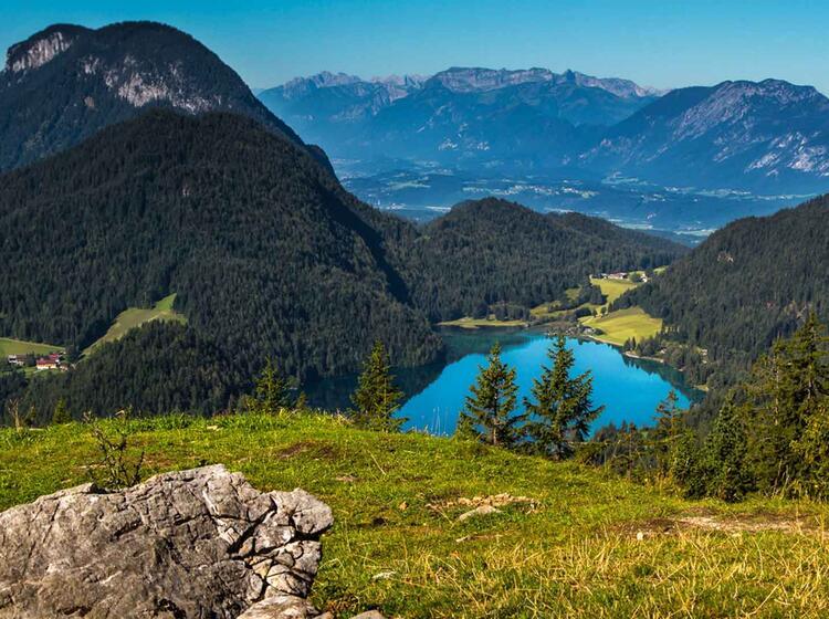 Wandern Am Hintersteiner See Im Wilden Kaiser Auf Der Kaiserkrone