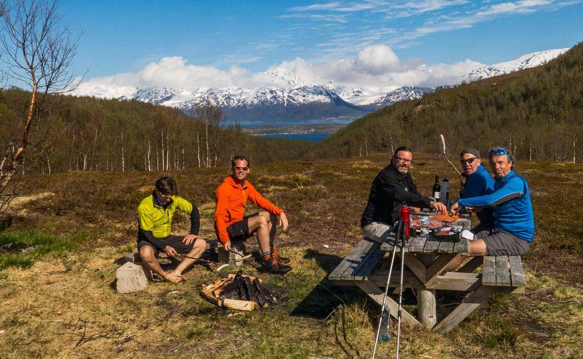 Wandern Am Lyngen Fjord