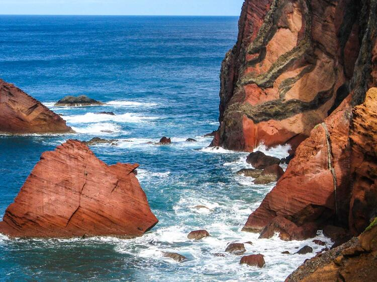 Wandern Am Meer Auf Madeira