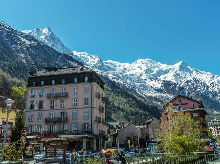 Wandern Am Mont Blanc Auf Der Tour Du Mont Blanc