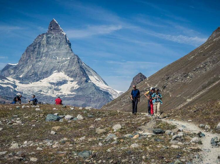 Wandern Am Rotenboden Mit Blick Zum Matterhorn