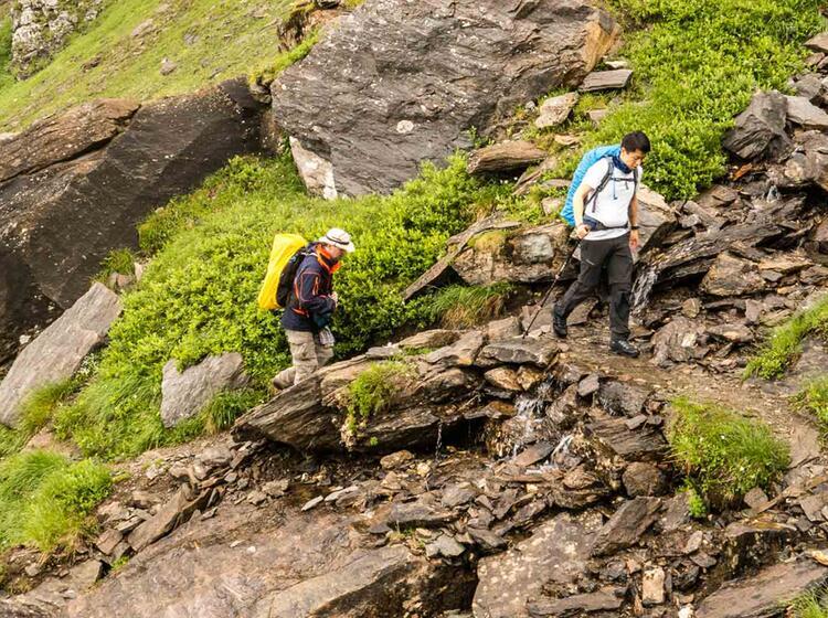 Wandern Auf Der Tour Du Mont Blanc Tdm