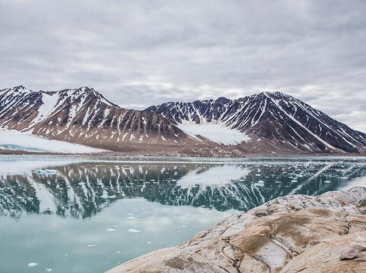 Wandern Auf Spitzbergen In Der Arktis