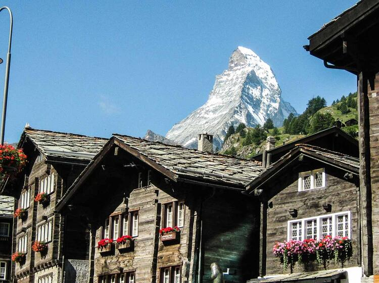 Wandern Im Wallis In Zermatt