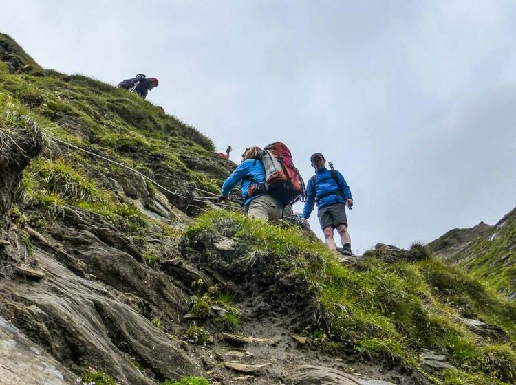 Wandern In Der Gruppe Auf Dem E5 Von Oberstdorf Nach Meran