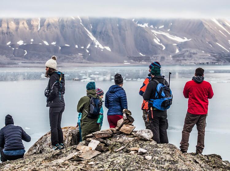 Wandern In Der Wilden Arktis Spitzbergen