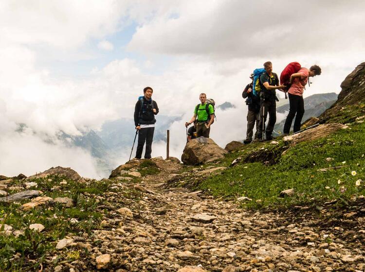 Wandern In Frankreich Am Mont Blanc Auf Der Tdm