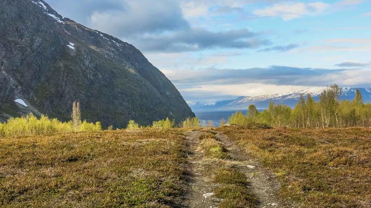 Wandern In Koppangen Am Lyngen Fjord