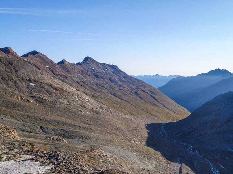 Wandern In Oesterreich Im Oetztal Auf Der Alpenueberquerung