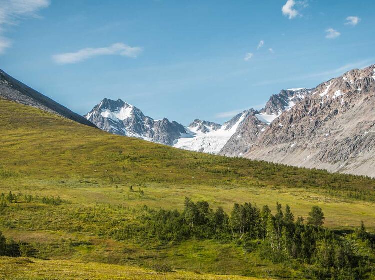 Wandern Mit Gletscher Blick In Nordnorwegen