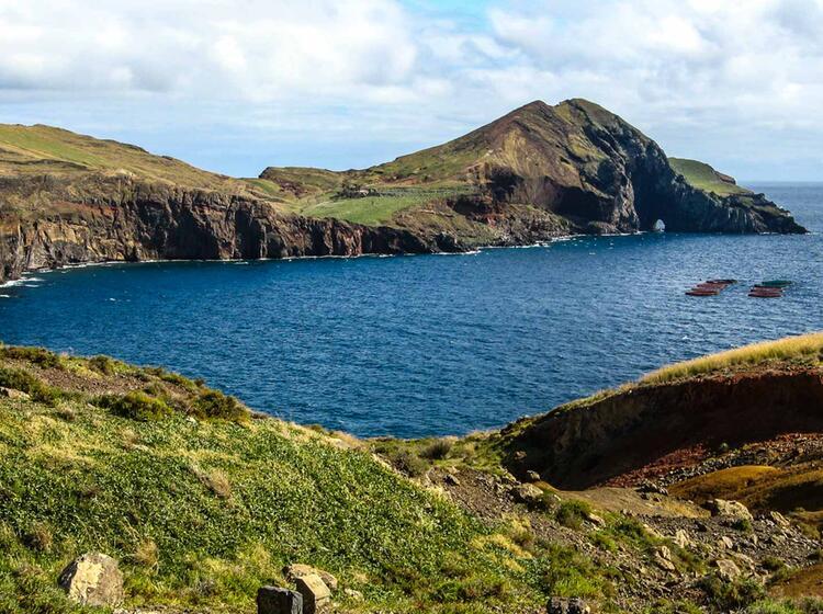Wandern Mit Meerblick Auf Madeira