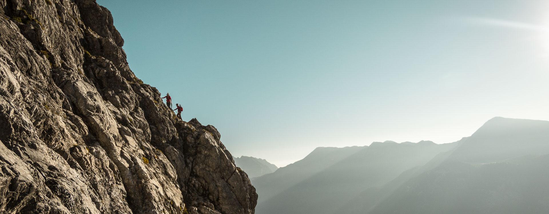 Watzmannostwand mit einheimischen Bergfuehrer