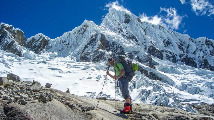 Weg Ueber Den Gletscher Vom Base Camp Zum Hochlager Des Alpamayo