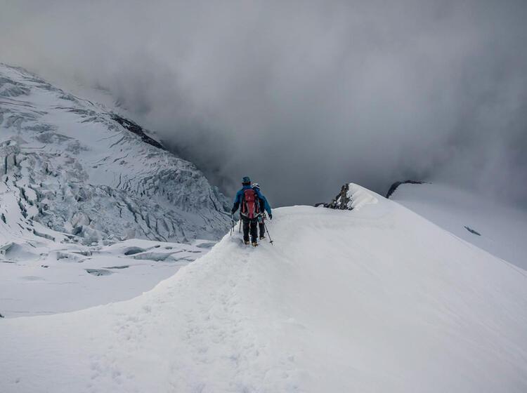 Wilde Gletscher Im Wallis Auf Der Hochtourenwoche