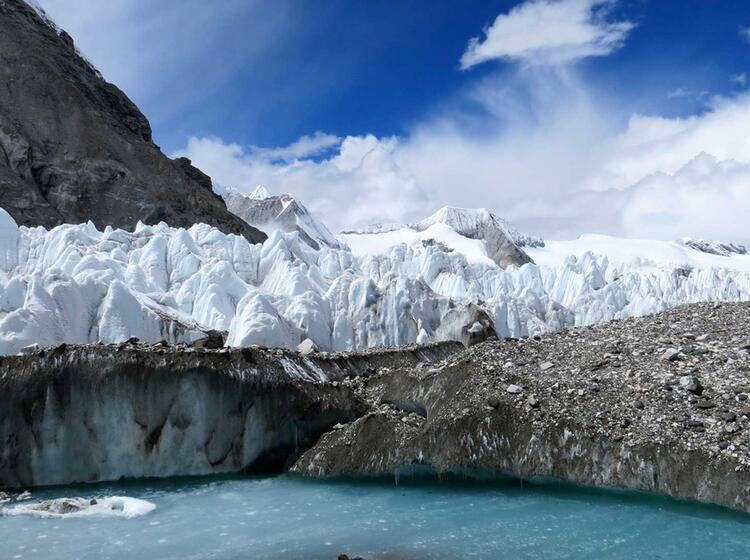 Wilde Gletscher Welt Auf Der Expedition In Tibet