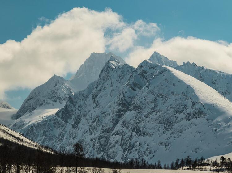 Wildes Skitourengebiet Lyngenlapen Mit Dem Schiff