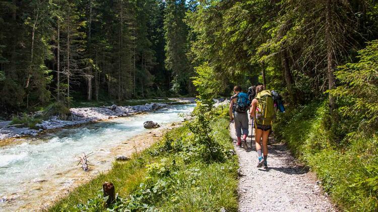 Zugspitzwanderung Durch Das Reintal Auf Die Zugspitze