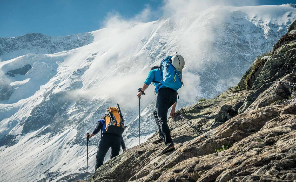 Zustieg Zum Gletscher Am Hochtourenkurs Wildspitze