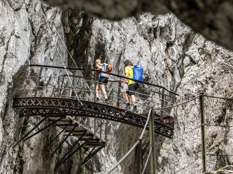 Klettersteig Höllental : Klettersteig durch das höllental bis auf die zugspitze